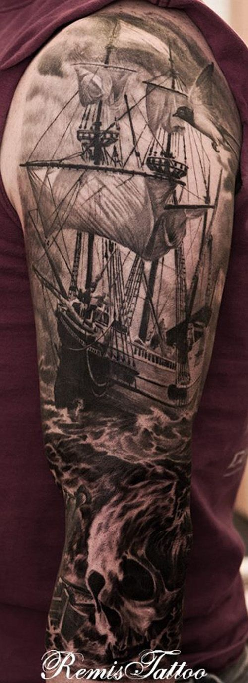 Pirate Ship Pirate Ship And Skull Full